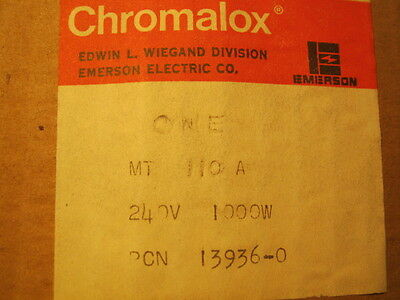 CHROMALOX IMMERSION HEATER MT-110A MT110A 240V 1PH 1KW, New in box, NOS