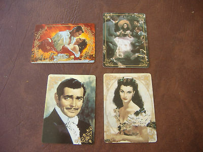 Gone with the Wind Porcelain Collector Cards & Wood Display Shelf!  14 CARDS!