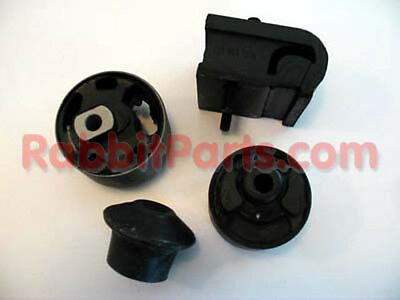 VW Rabbit Convertible / Cabriolet OEM HD Motor Mount Kit - Cabby