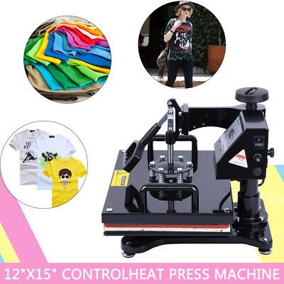 "15""X12"" Heat Press Photo T-shirt Sublimation Transfer Machine With Digital Timer"