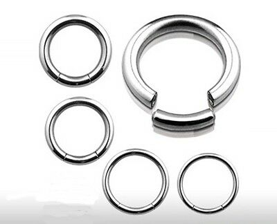 New Surgical Steel Segment Ring 1.2mm 1.6mm Nose Eyebrow Tragus Labret Navel
