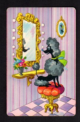 Vintage Swap/Playing Card - Pampered Poodle