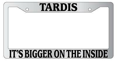 Dr Who It/'s Bigger ON The Inside Police Public Call Custom License Plate Frame