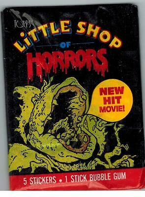 1986 TOPPS LITTLE SHOP OF HORRORS UNOPENED STICKERS MOVIE CARDS  PACK FROM BOX