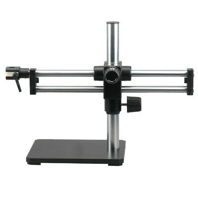 Double Arm Boom Stand for Stereo Microscopes - Steel Arms, Pin Mount