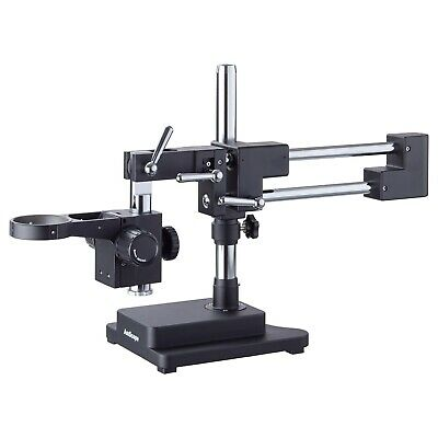 AmScope DAW-B Heavy Duty Double-Arm Black Boom Stand