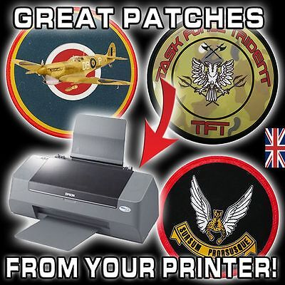 SIX CUSTOM PATCHES - PICK ANY LOGO/DESIGN & Create It With YOUR Printer! S7