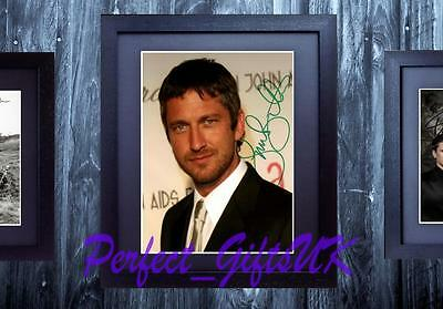 GERARD BUTLER FRAMED & MOUNTED SIGNED 10x8 REPRO PHOTO PRINT