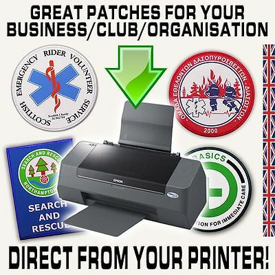 MOVIE LOGO CUSTOMISED IRON-ON PATCHES - From Your OWN Printer, ANYTHING GOES!