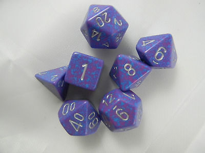 DUNGEONS & DRAGONS Silver Tetra Speckled D&D Dice Set Roleplaying Game