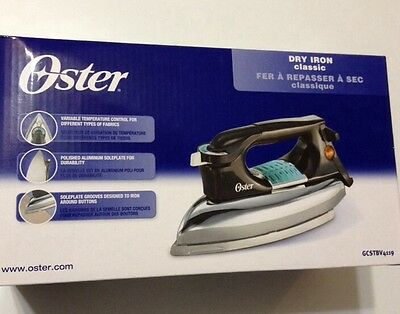 New! Oster Heavyweight Classic Dry Iron GCSTBV4119 Osterizer Clothing Iron! New!