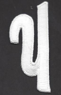 """SCRIPT LETTERS - White Script  2"""" Letter """"Y"""" - Iron On Embroidered Applique"""