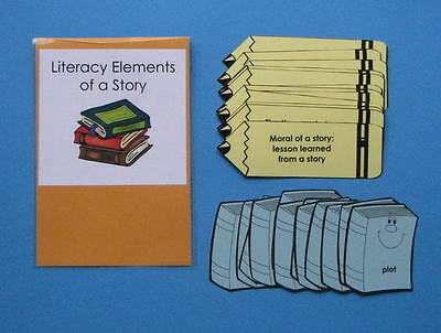 Teacher Made Literacy Center Resource Game Literacy Elements of a Story