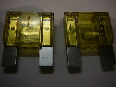 2 X 20amp MAXI BLADE FUSES 20A FOR CARS VANS TRUCKS MOTORHOMES AND MORE (2 PACK)