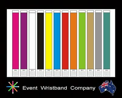 200 x Tyvek, event, party, security, wristbands.   Available in 12 colours