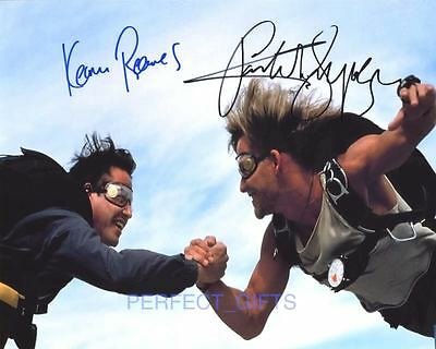 Point Break Cast X2 Reeves Swayze Signed Pp Repro Photo