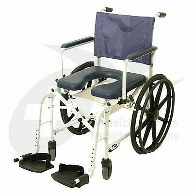 "Invacare Mariner 6895 Rehab Shower Commode Wheelchair w/ 5"" Casters"