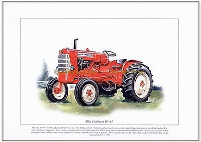 ALLIS-CHALMERS ED-40 - FINE ART PRINT - British made tractor from the 1960's