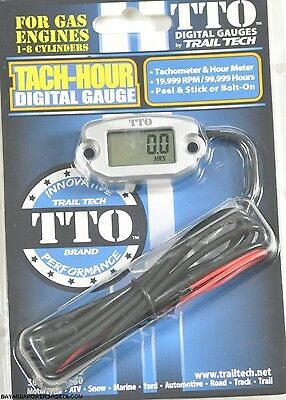 Trail Tech TTO Tach Hour Meter Gauge Motorcycle ATV Engine Tachometer
