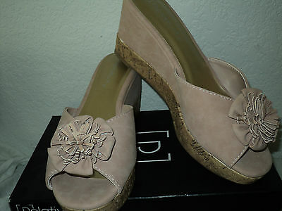 Relativity Women's  Peep Toe Blush Wedge Sandals size 8 1/2 NIB