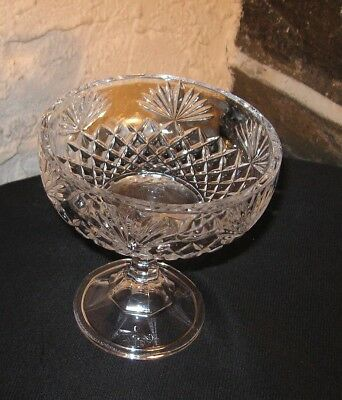 CRYSTAL COMPOTE DIAMONDS AND FANS ELEGANT GLASS @@