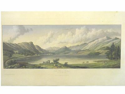 1 Orig.oldcol.steelprint by Westall  THIRLMERE FROM THE WEST SIDE