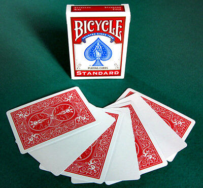 Blank Face Red Back Playing Cards by Bicycle New in box 56 Card Deck Gaff Magic
