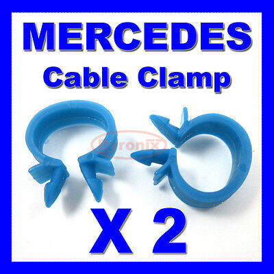 MERCEDES CABLE PIPE CLAMP WIRES WIRING LOOM HARNESS CLIP HOLDER 14mm