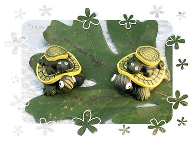 2 TURTLE MAGNETS mom & baby turtle   honu turtle catches a ride fimo magnet   $9