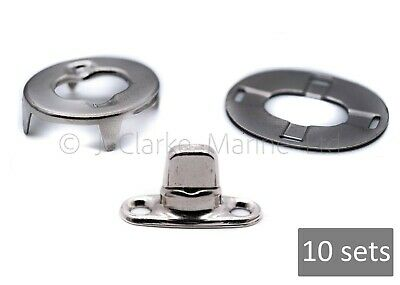 DOT - Turnbutton Common Sense fastener kit eyelets bases boat canopy cover carav