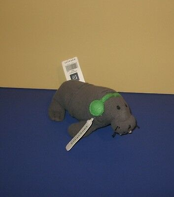 """New 7"""" Squeakers Baby Gap Willy The Walrus Bean Stuffed Plush Animal"""