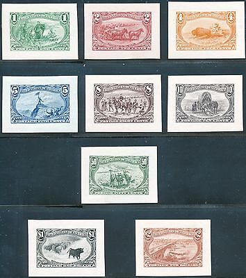 #285-93P2 Trans-Mississippi   Complete Set -- Xf Small Die Proofs  Wl2440