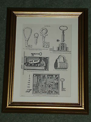 Bramah Locks Door Letter Bank  print over 125 years old available unframed
