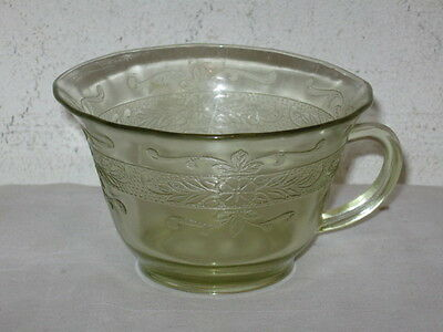 Antique Yellow Depression MacBeth Evans S-Pattern Stippled Rose Cup VFC