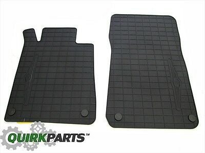 2005-2008 Chrysler Crossfire Coupe & Convertible FRONT Rubber Floor Mats OEM NEW