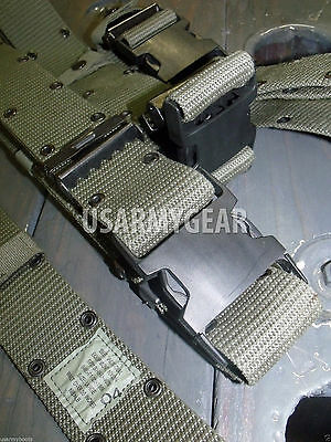 Made in USA ARMY USMC Military LC-2 OD TACTICAL PISTOL WEB Utility BELT LARGE L