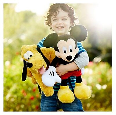 """New DisneyStore Authentic Mickey Mouse Medium Plush 18"""" Plush Toy for Kids"""