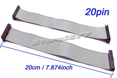 5Pcs 2.54mm Hole Pitch 20Pin 20 Wire IDC Flat Ribbon Cable 20cm s887