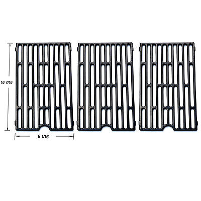 Jenn Air Grill Barbecue Porcelain Coated Cast Iron Cooking Grid Grate SGX271-3PK