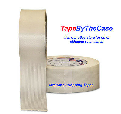 Intertape RG 286 Strapping Tape - 36 rolls 1 inch x 60yds - full case!