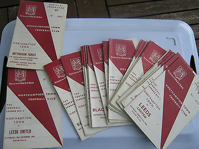 NORTHAMPTON TOWN  first division  1965/66 home  progs. in excellent condition.