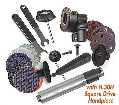 "Foredom Ak69130H 2"" Angle Grinder Kit With #30H Square Drive Handpiece + Access"