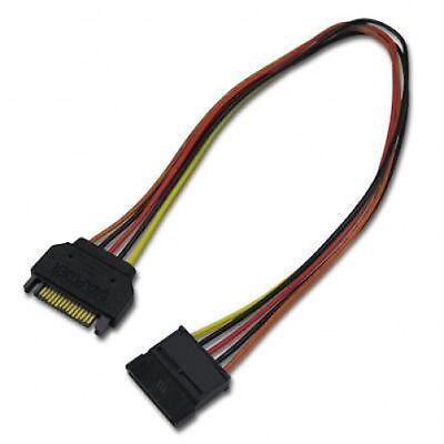 """30cm 12"""" Sata Power Extension Cable Male to Female"""