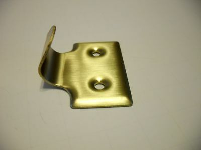 Vtg NOS BRASS Plated Steel Window Sash LIFT File Drawer Pull Library Apothecary