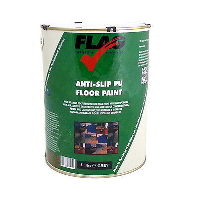 Anti Slip Polyurethane Floor Paint - Tough Paint Suitable for Garages, Workshops