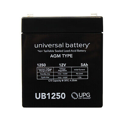 Gaston GT12-5L 12V 5Ah F2 Replacement Battery