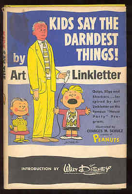Kids Say The Darndest Things Book Art Linkletter Charles Schulz Peanuts Disney