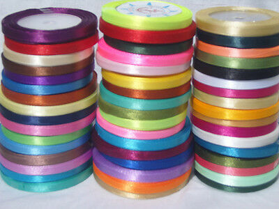 50 Rolls Of Satin Ribbon, 50 Different Colors 750 Yards 6 Mm - Great Value