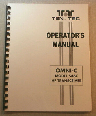 Tentec Omni-C Model 546C Operator's Manual, comb bound with protective covers