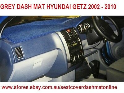 Dash Mat, Grey Dashmat, Dashboard Cover Fit  Hyundai Getz 2002 - 2010,  Grey